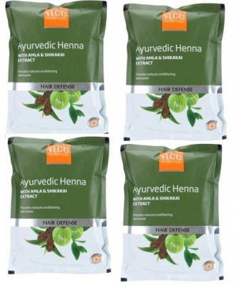 VLCC Natural Sciences Ayurvedic Henna With Amla & Shikakai Extract Hair Defense ( Pack Of 4)(400 g)