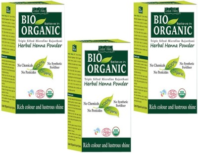 Indus Valley Set of 3- Bio Organic Herbal Henna Powder(300 g)