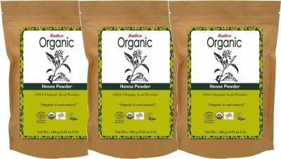 Radico Organic Henna Powder (TRIPACK)(300 g)