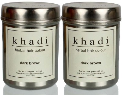 Khadi Herbal Herbal Hair Color Dark Brown (Twin Pack)(300 g)