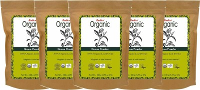 Radico Organic Henna Powder (Pack of 5)(500 g)