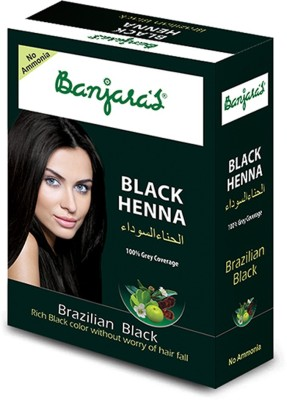 Banjaras Black Henna Brazilian Black 54g Set Of 1 Pack
