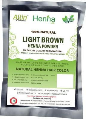 Allin Exporters Natural Light Brown Henna Hair Color(60 g)
