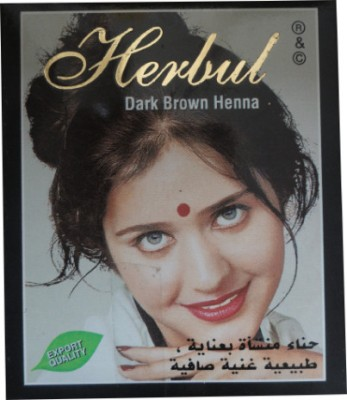 Allin Exporters Export Quality Dark Brown Henna Dye - For Soft & Silky Hair(60 g)