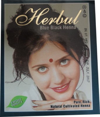 Allin Exporters Blue Black Henna Dye / Color For Silky & Lustrous Hair - Home Remedy(60 g)