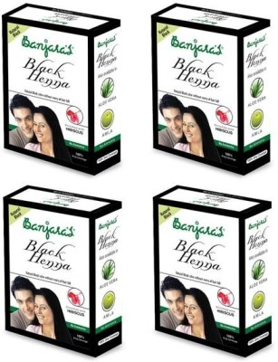 Banjaras Black Henna With Hibiscus 50 G set of 4 pack
