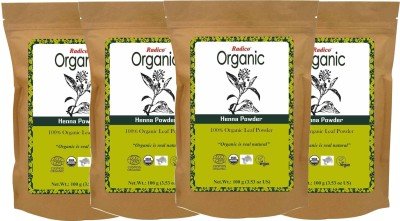 Radico Organic Henna Powder (Pack of 4)(400 g)