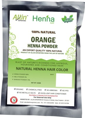 Allin Exporters Natural Orange Henna Hair Color(60 g)
