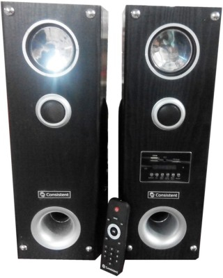 Gadget-Wagon Consistant 2.0 Tower Home Theater Speaker System with USB, Memory Card & FM Radio Mini Hi-Fi System