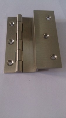 ADVANCE L HINGES Strap Hinge(SATIN LACOR, STEEL FINISH, BRASS ANTIQUE Pack of 1)