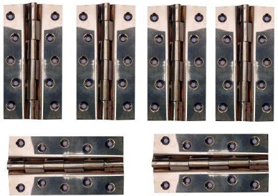 Katarias Railway Hinges 5 Inch 5*1/8*1 Pack Of 6 Butt/Mortise Hinge