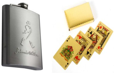 Soy Impulse Combo of Playing Cards & Hip Flask