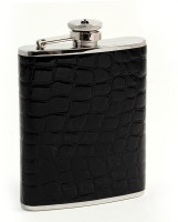 Star Magic Glossy Stainless Steel Hip Flask(266 ml)
