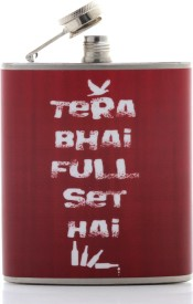 Happy Hours Stainless Steel Hip Flask(207 ml)