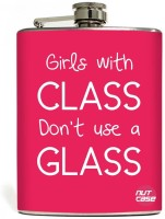 Nutcase Girls Only Stainless Steel Hip Flask(207 ml)
