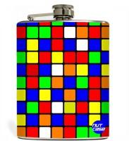 Nutcase Cube Stainless Steel Hip Flask(250 ml)