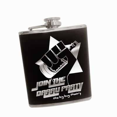 The Big Bag Theory Faux Leather Hip Flask