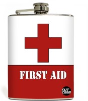 Nutcase First Aid Stainless Steel Hip Flask(250 ml)