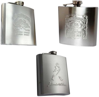 Soy Impulse Set of 3 Stainless Steel Hip Flask