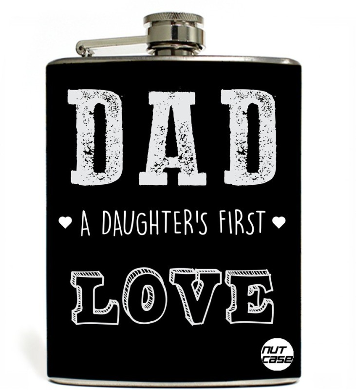 Nutcase Stainless Steel Hip Flask FATHERS DAY - Daughter first Love