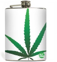 Nutcase Green Happy Leaves Stainless Steel Hip Flask(207 ml)