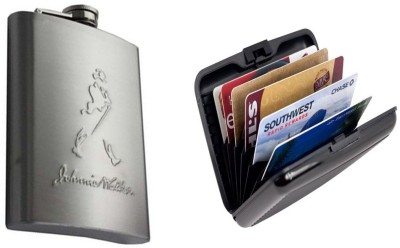Soy Impulse Combo of Card Holder & Hip Flask