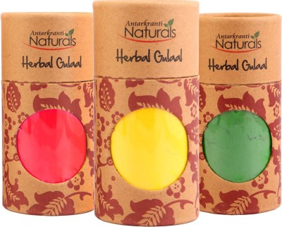 Antarkranti Holi Color Powder Pack of 3(Red, Yellow, Green, 460 g)