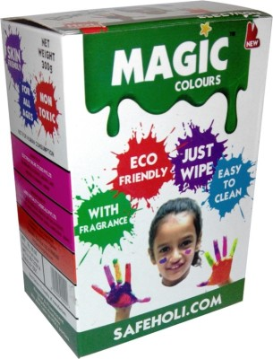 Magic Colours Easy Clean Holi Color Powder Pack of 5(Red, Gold, Blue, Pink, Green, 300 g)