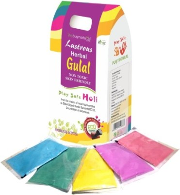 Lustrous Pack of 1 Rangoli Powder(Orange, Pink, Purple, Yellow, Green)