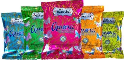Shri Ganesha Amora Holi Color Powder Pack of 5(Pink, Yellow, Blue, Orange, Green, 100 g)