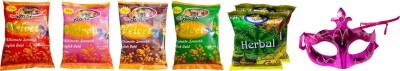 Priyankish Herbal Holi Color Powder Pack of 7(Red, Pink, Orange, Green, Yellow, 600 g)