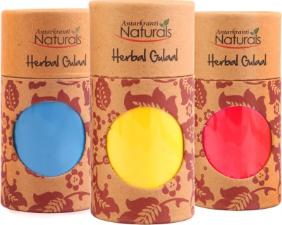 Antarkranti Holi Color Powder Pack of 3(Blue, Yellow, Red, 460 g)