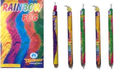 Shri Ganesha Rainbow Fog Gulal Holi Color Powder Pack of 5(Red, Yellow, Blue, Pink, Green, 900 g)