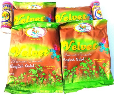 COCK BRAND Holi Color Powder Pack of 6(Green, Pink, 420 g)