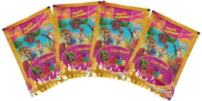 Herbal Gulal Pure Playing Holi Color Powder Pack of 4(Multicolor, 500 g)