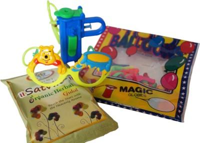Luxury Gifts By Nikki Pichkari, Color, Balloon Holi Combo