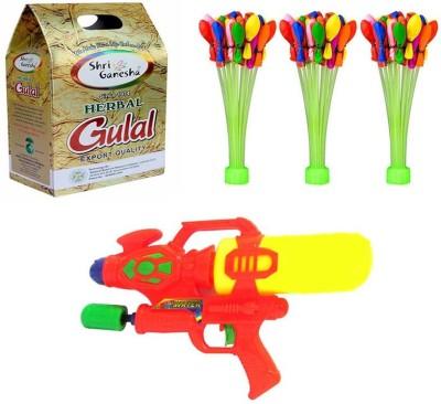 sai baba creations Pichkari, Color, Balloon Holi Combo
