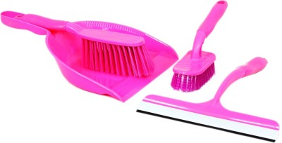 Houzfull C1-DustPanSetPink Home Cleaning Set
