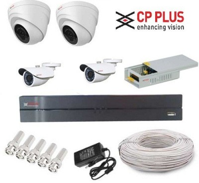 CP PLUS CP-8-2D-2B-PCW 8-Channel Dvr, 2 HD Dome, 2 HD Bullet Cameras (With Accessories)