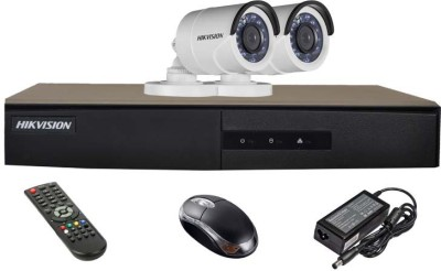 Hikvision DS-7204HGHI-E1 4CH Dvr, 2(DS-2CE16COT-IRP) Bullet Camera (With Mouse,Remote)
