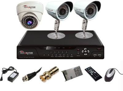 Tentronix T-4AVR-3-B2D10 4Channel AHD DVR 2 (1 MP 36 IR) Bullet 1 (1 MP 36 IR) Dome Cameras