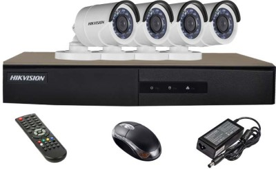 Hikvision-DS-7204HGHI-E1-4CH-Dvr,-4(DS-2CE16COT-IRP)-Bullet-Camera-(With-Mouse,Remote)