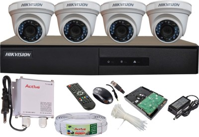 Hikvision DS-7204HGHI-E1 4CH Dvr, 4(DS-2CE56COT-IRP) Dome Camera (With Mouse, Remote, 1TB HDD,Cable, Bnc&Dc Connectors,Power Supply)