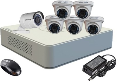 Hikvision-DS-7108HGHI-F1-Mini-8CH-Dvr,-5(DS-2CE56C2T-IR)-Dome,-1(DS-2CE16C2T-IRB)-Bullet-Camera-(With-Mouse)