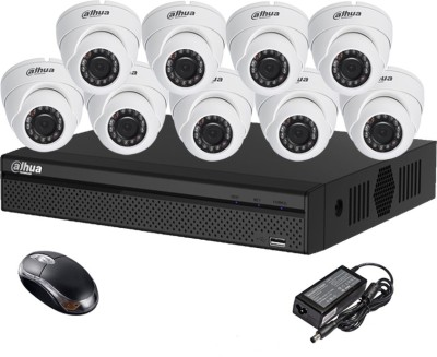 Dahua DH-HCVR4116HS-S2 16CH Dvr, 9(DH-HAC-HDW1000RP) Dome Cameras (With Mouse)