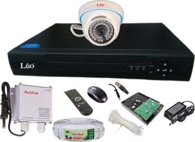 LIO AHD Full Combo, AHD 1MP Dome Camera 1Pcs + CCTV Cable + 500GB HDD + AHD DVR 4 Channel Home Security Camera