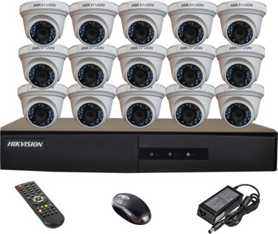 Hikvision-DS-7216HGHI-E1-16-Ch-Dvr,-15(DS2CE56COT-IR)-Dome-Cameras-(With-Mouse,-Remote)