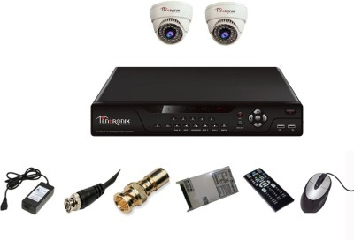 Tentronix T-4AVR-2-D10 4Channel AHD DVR + 2 (1 MP 36 IR) Dome Cameras