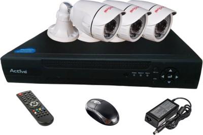 Active Feel Free Life AHD Combo, 3 AHD Camera + AHD DVR 4 Channel Home Security Camera