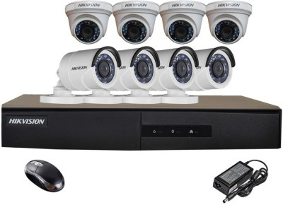 Hik Vision Hikvision Combo, 8Pcs Turbo HD Camera + HDTVI Turbo DVR 8 Channel Home Security Camera at flipkart